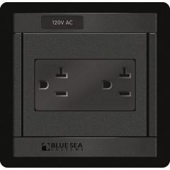 Blue Sea 1479 360 Panel 120v Ac Dual Outlet-small image