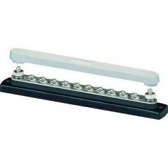 Blue Sea 2312, 150 Ampere Common Busbar 20 X 832 Screw Terminal With Cover-small image