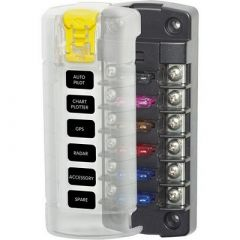 Blue Sea 5035 St Blade Fuse Block WCover 6 Circuit Independent WO Negative Bus-small image