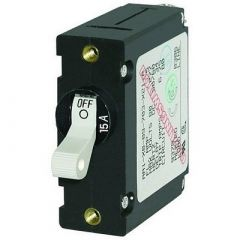 Blue Sea 7210 AcDc Single Pole Magnetic World Circuit Breaker 15amp-small image