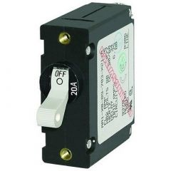 Blue Sea 7214 AcDc Single Pole Magnetic World Circuit Breaker 20amp-small image