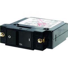 Blue Sea 7404 Single Pole Small Case 2 Flat Rocker Circuit Breaker 20 Amp-small image