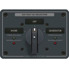 Blue Sea 8363 Ac Rotary Switch Panel 65 Ampere 2 Positions Off, 3 Pole-small image