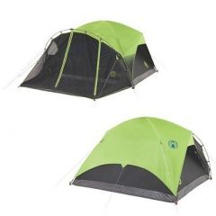Coleman 6Person Darkroom Fast Pitch Dome Tent WScreen Room-small image