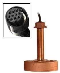 Furuno 525tBsd Bronze ThruHull Transducer WTemp, 600w 10Pin-small image