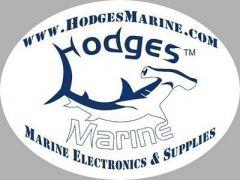 hodges marine logo sticker-small image
