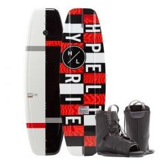 Hyperlite Motive Wakeboard 140 Cm WFrequency Boot 2020 Edition BlackRed-small image
