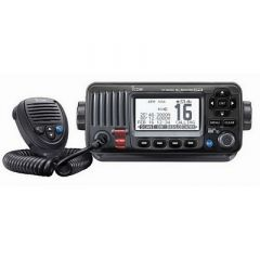 Icom M424g Fixed Mount Vhf Marine Transceiver WBuiltIn Gps Black-small image