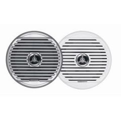 Jensen Msx65r 65 High Performance Coaxial Speaker Pair WhiteSilver Grills-small image
