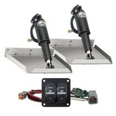 Lenco 12 X 12 Edge Mount Trim Tab Kit WDouble Rocker Switch Kit-small image