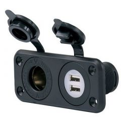 Marinco Sealink Deluxe Dual Usb Charger 12v Receptacle-small image