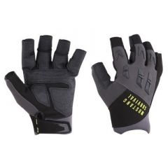 Mustang Ep 3250 Open Finger Gloves Large GreyBlack-small image