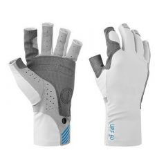 Mustang Traction Uv Open Finger Fishing Glove Light GrayBlue Small-small image