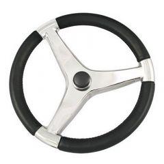 "Schmitt Evo Pro 316 Cast Stainless Steel Steering Wheel - 13.5""Diameter-small image"