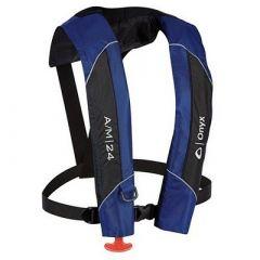 Onyx AM24 AutomaticManual Inflatable Pfd Life Jacket Blue-small image
