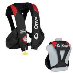 Onyx A33 InSight Deluxe Tournament Automatic Inflatable Life Vest BlackRed-small image
