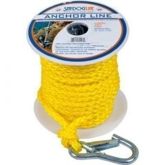 SeaDog Poly Pro Anchor Line WSnap 38 X 100 Yellow-small image