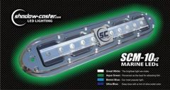 ShadowCaster Scm10 Led Underwater Light W20 Cable 316 Ss Housing Aqua Green-small image