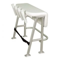 Taco Neptune Iii Leaning Post W4 White Poly Rod Holders-small image