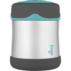 Thermos Foogo Stainless Steel, Vacuum Insulated Food Jar TealSmoke 10 Oz-small image