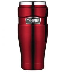 Thermos Stainless King Vacuum Insulated Travel Tumbler 16 Oz Stainless SteelCranberry-small image