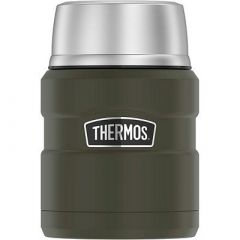 Thermos Stainless King Vacuum Insulated Stainless Steel Food Jar 16oz Matte Army Green-small image