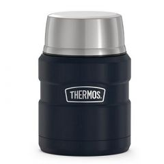 Thermos Stainless King Vacuum Insulated Stainless Steel Food Jar 16oz Matte Midnight Blue-small image