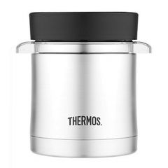 Thermos Vacuum Insulated Food Jar WMicrowavable Container 12 Oz Stainless Steel-small image