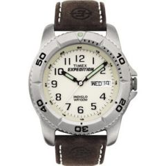 Timex Expedition MenS Traditional SilverBrown-small image