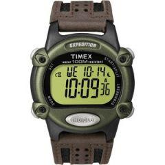 Timex Expedition MenS Chrono Alarm Timer GreenBlackBrown-small image
