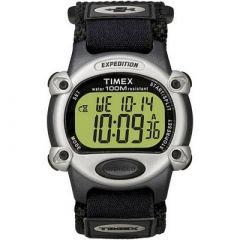 Timex Expedition Mens Chrono Alarm Timer SilverBlack-small image