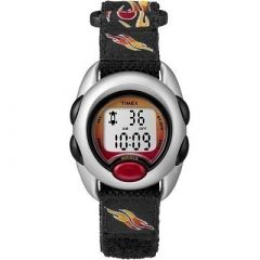 Timex KidS Digital Nylon Band Watch Flames-small image