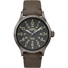 Timex Expedition Scout Metal Brown LeatherGray Dial-small image