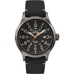 Timex Expedition Metal Scout Black LeatherBlack Dial-small image