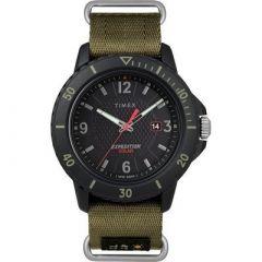 Timex Gallatin Nylon SlipThru Watch Solar GreenBlack Dial-small image