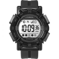 Timex Expedition Digital Face 47mm White Screen WBlack Resin Strap-small image