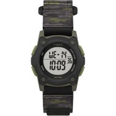 Timex KidS Digital 35mm Watch Green Camo WFastwrap Strap-small image