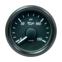 Vdo Singleviu 52mm 2116 Oil Pressure Gauge 150 Psi 0180 Ohm-small image