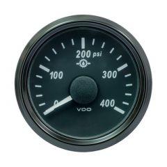 Vdo Singleviu 52mm 2116 Oil Pressure Gauge 400 Psi 0180 Ohm-small image