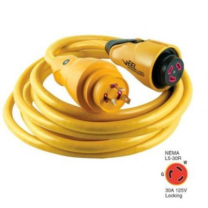 Marinco Cs30-50 Eel 30a 125v Shore Power Cordset - 50' - Yellow