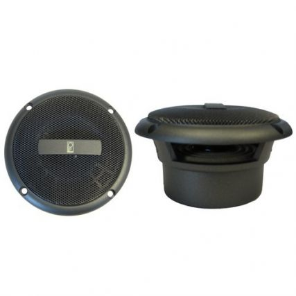 Poly-Planar 5-Inch Round Flush-Mount Marine Speakers Pair