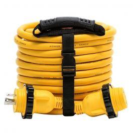 Camco 30 Amp Power Grip Marine Extension Cord 50 M Locking F Locking Adapter
