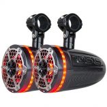 Ds18 X Series Hydro 8 2Way Wakeboard Pod Tower Speakers W15 Compression Driver Rgb Lights 600w Black-small image