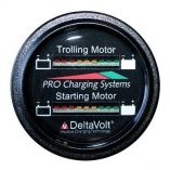 Dual Pro Battery Fuel Gauge Marine Dual Read Battery Monitor 12v24v System 15 Battery Cable-small image