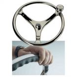 Edson 13 Ss Comfort Grip Powerwheel Steering Wheel WPowerknob-small image