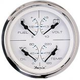 Faria Chesapeake Ss White 4 Multifunction 4In1 Combination Gauge WFuel, Oil, Water Volts-small image