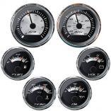 Faria Platinum Box Set Inboard Speed, Tach, Fuel, Voltmeter, Water Temp Oil Pressure-small image