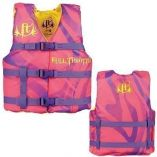 Full Throttle Character Life Vest Youth 5090lbs Pink-small image