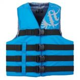 Full Throttle Teen Nylon Life Vest 90lbs And Over Blue-small image