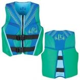 Full Throttle Hinged RapidDry FlexBack Life Vest Youth 5090lbs Green-small image